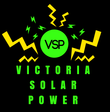 Logo for commercial Canadian solar panel installation company in Victoria BC--Victoria Solar Power.